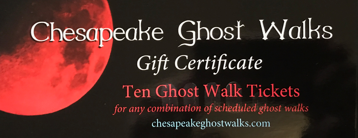 Gift Certificate - Ten Ghost Walk Tickets