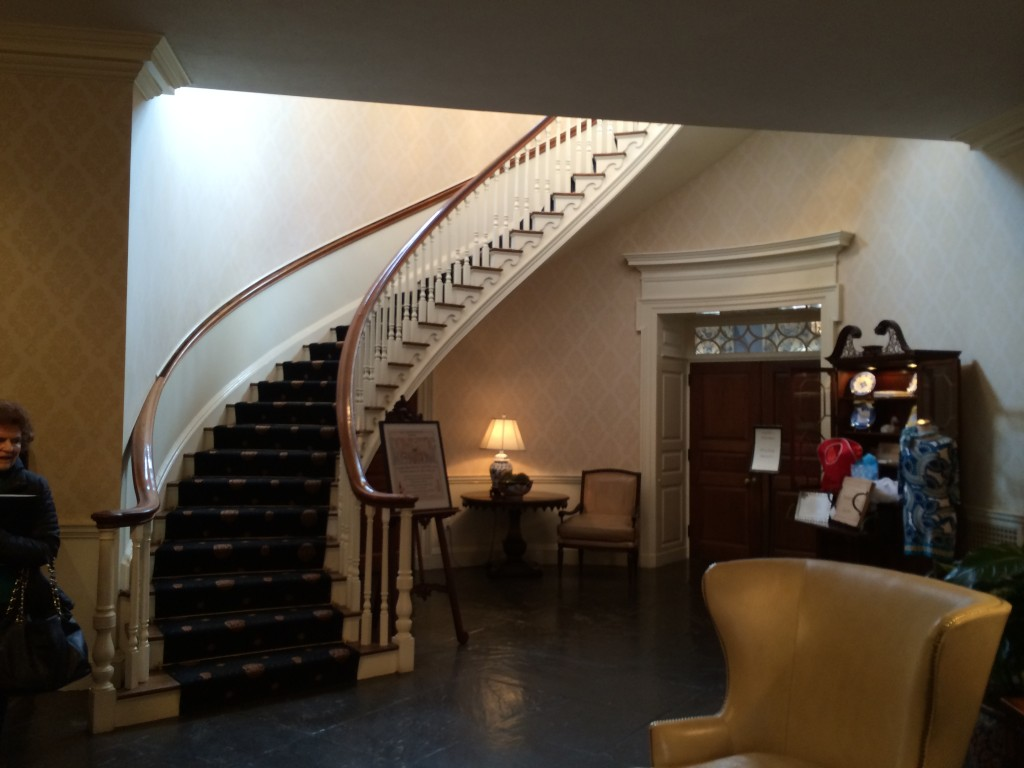 This staircase is the only thing that remains of the Hotel Avon. Now beautifully restored in the Tidewater Inn