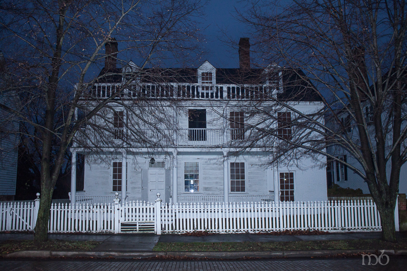 Josiah Bayly House - Oldest House in Cambridge. Originally built in Annapolis, then dismantled and brought to Cambridge by barge adn rebuilt.