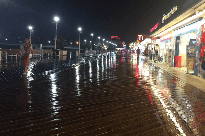 Ocean City Board in the Rain