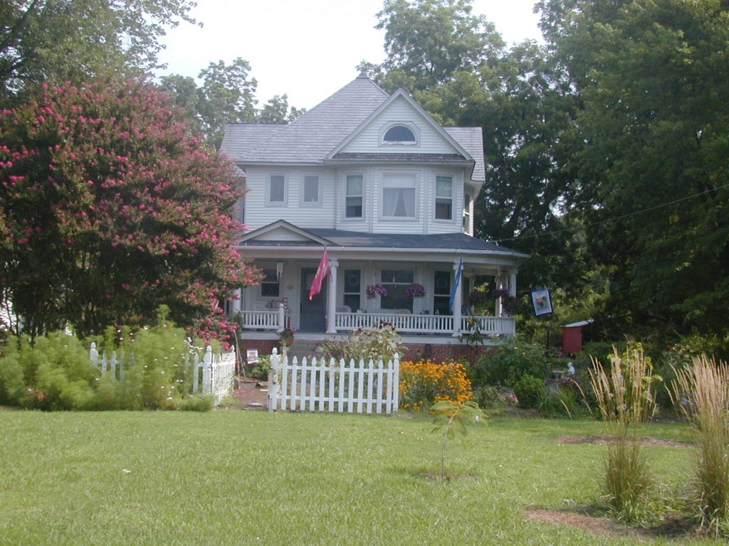 Vance Miles House in the summer