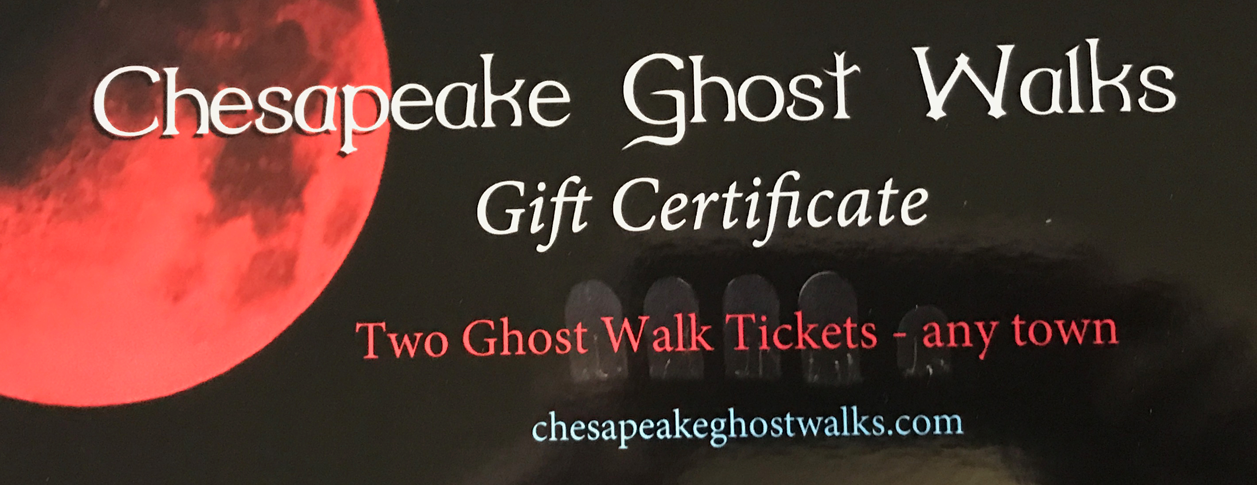 Gift Certificate - Two Ghost Walk Tickets