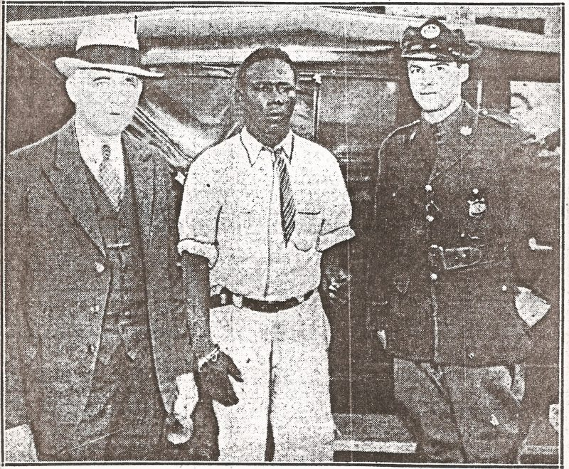 George Armwood arrested. Photo from Afro-American News - Baltimore 1933.